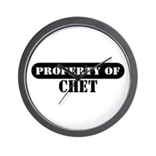 Property of Chet Wall Clock