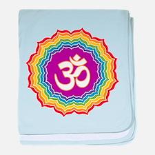 Seven Chakras Colors baby blanket