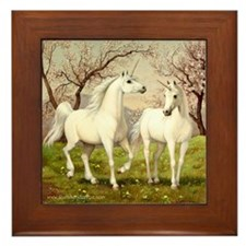 Unicorn Love Framed Tile