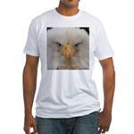 Chill Out Bald Eagle Portrait Fitted T-Shirt