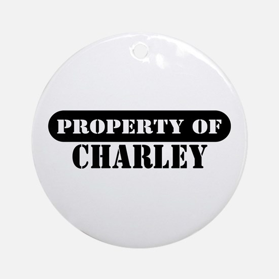 Property of Charley Ornament (Round)
