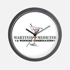 """Martinis & Medicine"" Wall Clock"