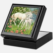 Unicorn Mare and Foal Keepsake Box