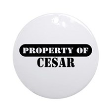Property of Cesar Ornament (Round)