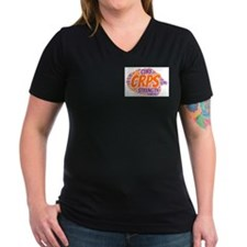 Women's CRPS Strength V-Neck Dark T-Shirt