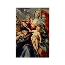 El Greco - Holy Family, 1592 Rectangle Magnet