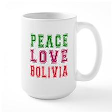 Peace Love Bolivia Mug