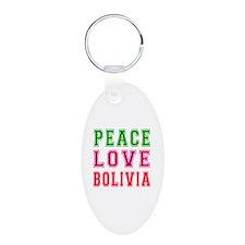 Peace Love Bolivia Keychains
