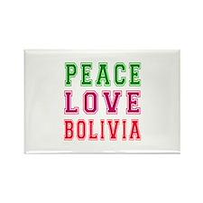 Peace Love Bolivia Rectangle Magnet
