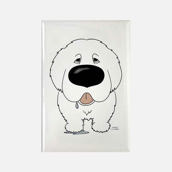 Big Nose Great Pyrenees Rectangle Magnet