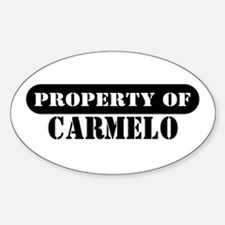 Property of Carmelo Oval Decal