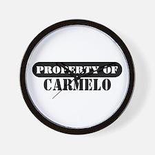 Property of Carmelo Wall Clock