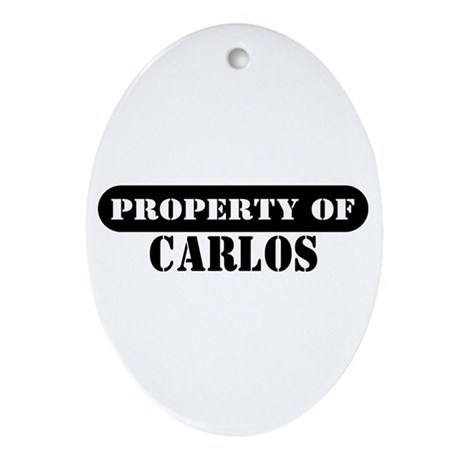 Property of Carlos Oval Ornament