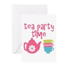 Tea Party Time Greeting Cards
