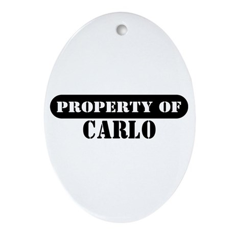 Property of Carlo Oval Ornament