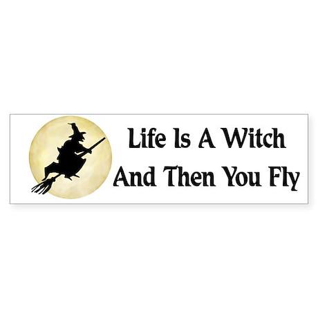 Classic Witch Saying Bumper Sticker