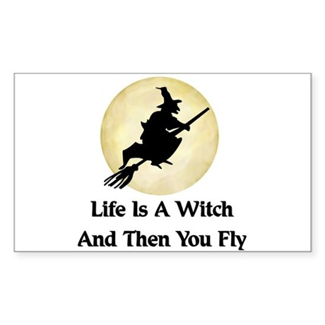 Classic Witch Saying Rectangle Sticker