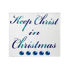 Keep Christ in Christmas Throw Blanket