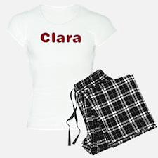 Clara Santa Fur Pajamas