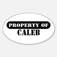 Property of Caleb Oval Decal