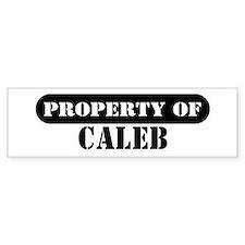 Property of Caleb Bumper Bumper Sticker