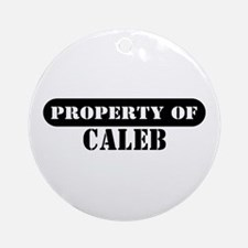 Property of Caleb Ornament (Round)