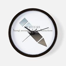 Writers Hang Around Shady Characters Wall Clock