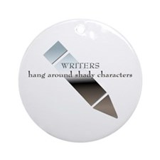Writers & Shady Characters Ornament (Round)