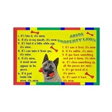 Akita Property Laws 1 Rectangle Magnet
