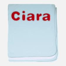 Ciara Santa Fur baby blanket