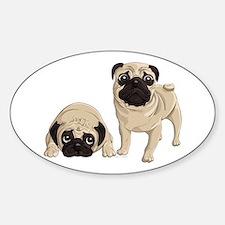 Pugs Sticker (Oval)