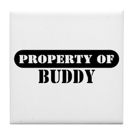 Property of Buddy Tile Coaster