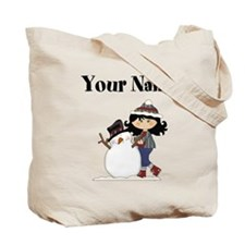 Personalized Winter Girl Tote Bag