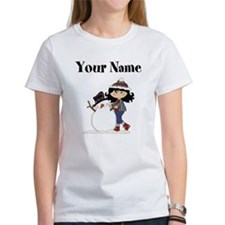 Personalized Winter Girl T-Shirt