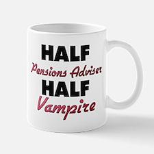 Half Pensions Adviser Half Vampire Mugs