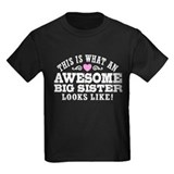 Big sister awesome Kids T-shirts (Dark)
