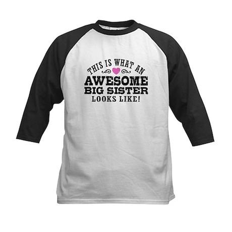 Awesome Big Sister Kids Baseball Jersey