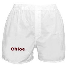 Chloe Santa Fur Boxer Shorts