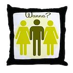 3some Wanna FMF Throw Pillow