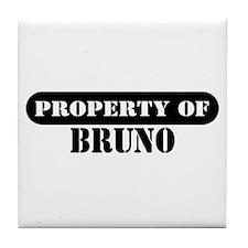 Property of Bruno Tile Coaster