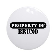 Property of Bruno Ornament (Round)
