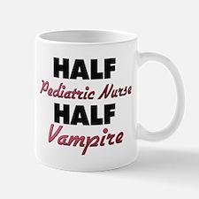 Half Pediatric Nurse Half Vampire Mugs