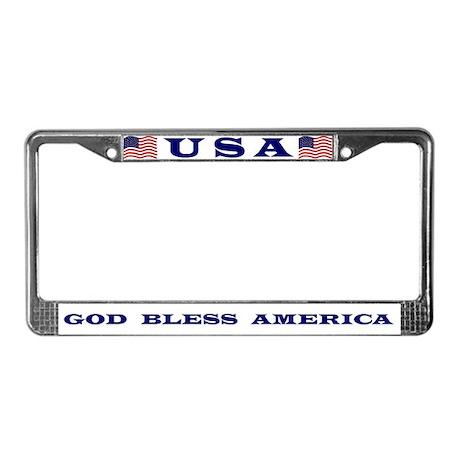 God Bless America License Plate Frame