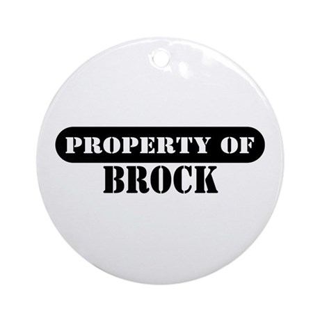 Property of Brock Ornament (Round)