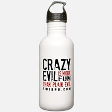 CRAZY EVIL - WHITE Water Bottle