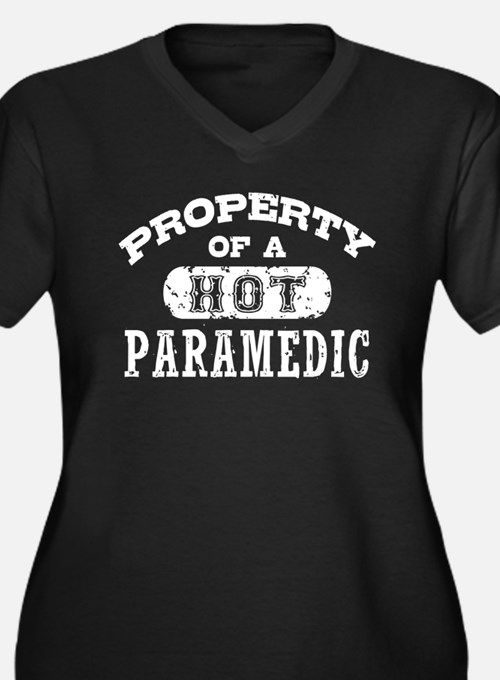 Property of a Hot Paramedic Women's Plus Size V-Ne