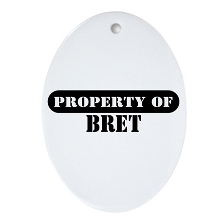 Property of Bret Oval Ornament