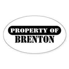Property of Brenton Oval Decal