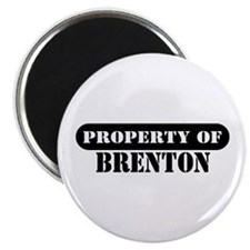 "Property of Brenton 2.25"" Magnet (10 pack)"