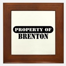 Property of Brenton Framed Tile
